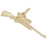 14k Gold Rifle with Scope Charm by Rembrandt Charms
