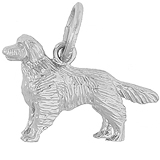 14K White Gold Golden Retriever Charm by Rembrandt Charms