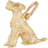 14k Gold Sitting Terrier Dog Charm by Rembrandt Charms