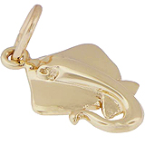 14K Gold Sting Ray Accent Charm by Rembrandt Charms