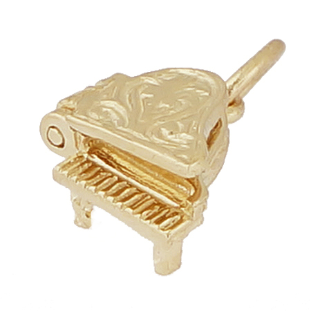 Gold Plate Piano Accent Charm by Rembrandt Charms