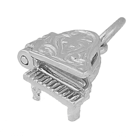 14K White Gold Piano Accent Charm by Rembrandt Charms