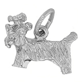 14K White Gold Yorkshire Terrier Dog Charm by Rembrandt Charms