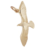 10K Gold Seagull Bird Charm by Rembrandt Charms