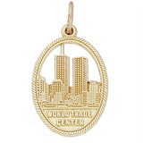 14K Gold World Trade Center 9-11 Charm by Rembrandt Charms