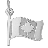 Sterling Silver Canadian Flag Charm by Rembrandt Charms