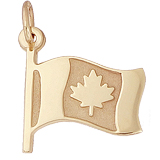 Gold Plated Canadian Flag Charm by Rembrandt Charms