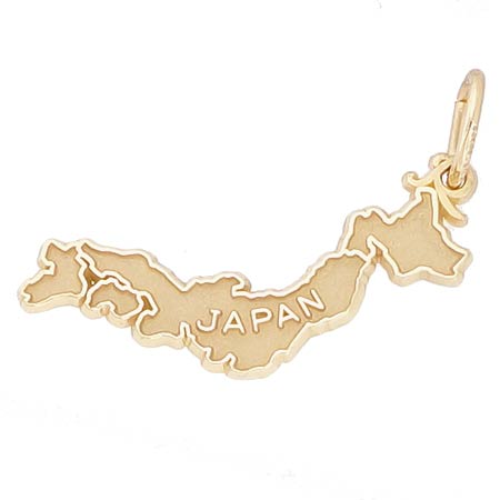 Gold Plated Japan Map Charm by Rembrandt Charms