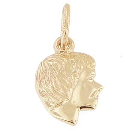 14k Gold Girl's Head Accent Charm by Rembrandt Charms