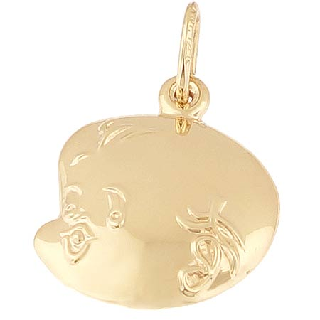 14k Gold Baby Face Charm by Rembrandt Charms