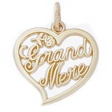 Gold Plated Grand Mere, Grandmother Charm by Rembrandt Charms