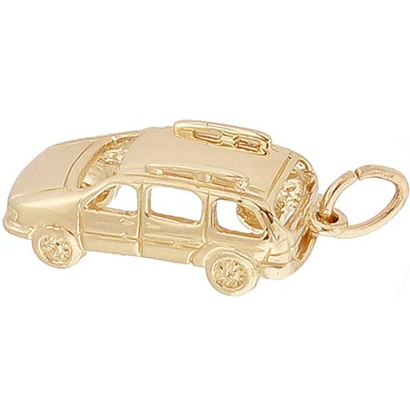 Gold Plated Mini Van Charm by Rembrandt Charms