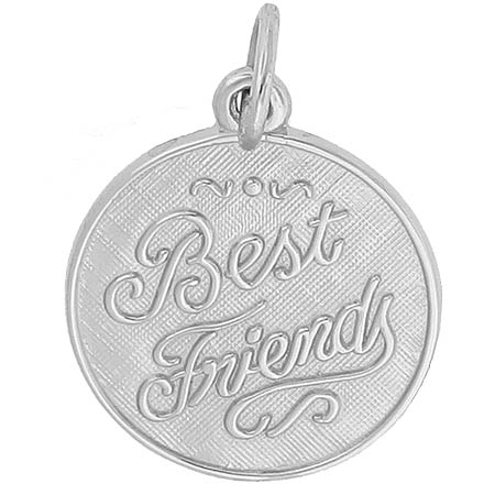 14K White Gold Best Friends Charm by Rembrandt Charms