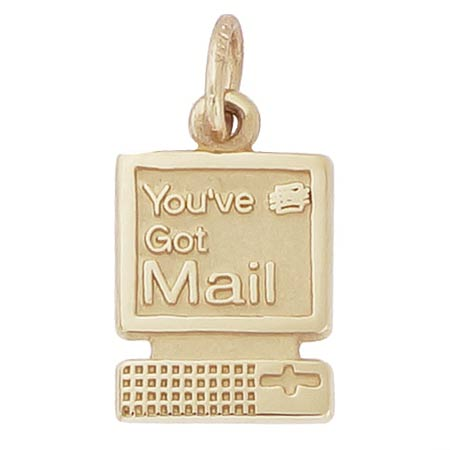 14k Gold You've Got Mail Computer Charm by Rembrandt Charms