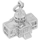 14k White Gold Capitol Building Charm by Rembrandt Charms