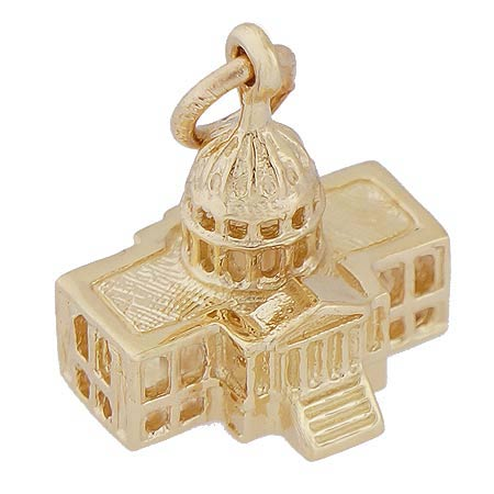 14k Gold Capitol Building Charm by Rembrandt Charms