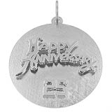 Sterling Silver Anniversary Disc Charm by Rembrandt Charms