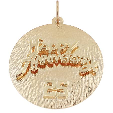 14k Gold Anniversary Disc Charm by Rembrandt Charms