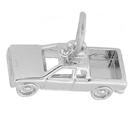 14K White Gold Pickup Truck Charm by Rembrandt Charms