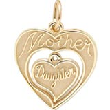 Gold Plated Mother & Daughter Charm by Rembrandt Charms