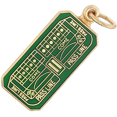10K Gold Craps Table Charm by Rembrandt Charms