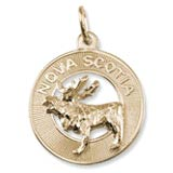 Gold Plate Nova Scotia Moose Ring Charm by Rembrandt Charms