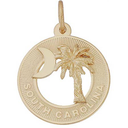 14k Gold South Carolina Palm Charm by Rembrandt Charms