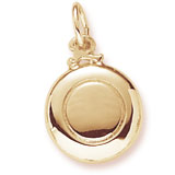 10K Gold Frisbee Charm by Rembrandt Charms