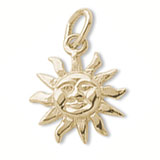 Gold Plate Small Dominica Sunshine Charm by Rembrandt Charms