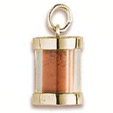 Gold Plated Prince Edward Sand Capsule by Rembrandt Charms