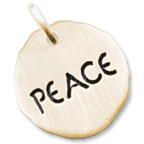 Gold Plate Peace Charm Tag by Rembrandt Charms