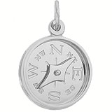 Sterling Silver Compass with Needle Charm by Rembrandt Charms