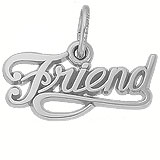 14K White Gold Friend Charm by Rembrandt Charms