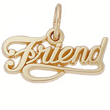 10K Gold Friend Charm by Rembrandt Charms