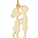 10K Gold Boy and Girl First Kiss Charm by Rembrandt Charms