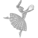 14K White Gold Ballet Dancer Charm by Rembrandt Charms
