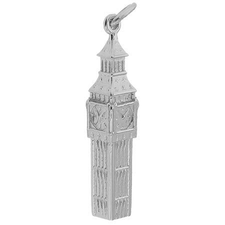 Sterling Silver Big Ben Charm by Rembrandt Charms