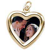 10K Gold Small Heart PhotoArt® Charm by Rembrandt Charms