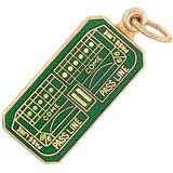 Gold Plated Craps Table Charm by Rembrandt Charms