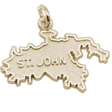 14K Gold St. John Island Map Charm by Rembrandt Charms