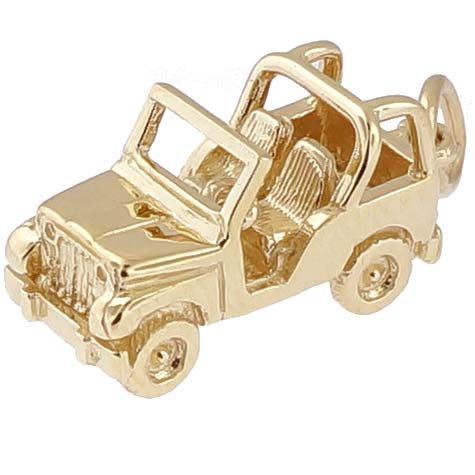 Gold Plated Off Road Vehicle Charm by Rembrandt Charms