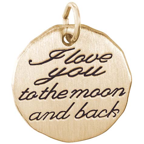 Rembrandt I Love You To The Moon Charm, 14K Yellow Gold