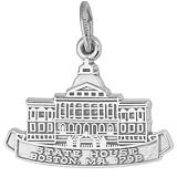 Sterling Silver Boston State House Charm by Rembrandt Charms
