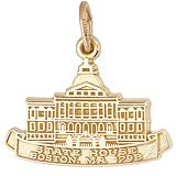 10K Gold Boston State House Charm by Rembrandt Charms