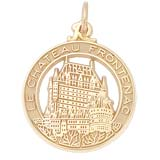 10K Gold Chateau Frontenac Charm by Rembrandt Charms