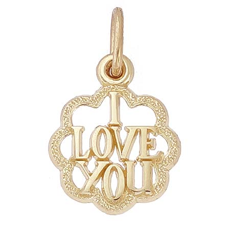 14K Gold I Love You Charm by Rembrandt Charms