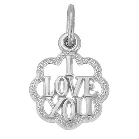 Sterling Silver I Love You Charm by Rembrandt Charms
