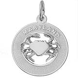 Sterling Silver Maryland Crab Charm by Rembrandt Charms