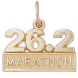 14k Gold 26.2 Marathon Charm by Rembrandt Charms