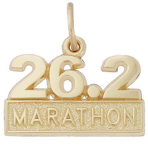 14k Gold 26.2 Marathon Charm by Rembrandt Charms
